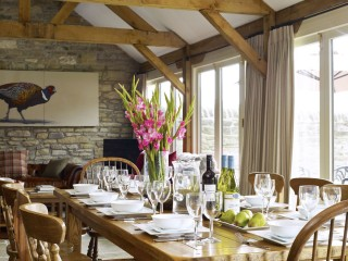 The Old Byre – Dining Room and Living Space